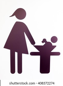 diaper changing table sign