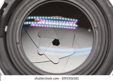 The diaphragm of camera lens aperture