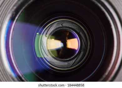 diaphragm of a camera lens aperture