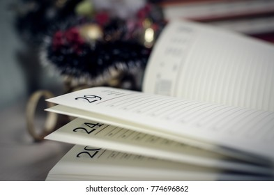 diary on the table