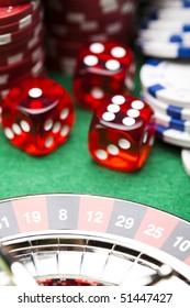 Dice  in casino