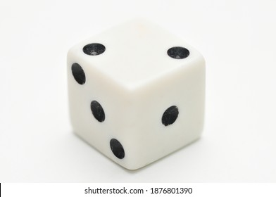 Dice for casino and backgammon on isolated white background