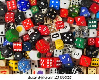 Dice collection, can be used as a background