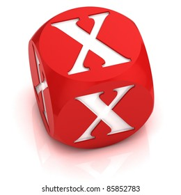 dice font letter X