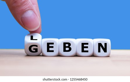 """Dice form the german words """"Leben"""" and """"Geben"""" which symbolize to give life."""