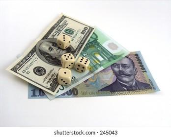 dice with money