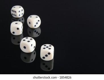 dice on black