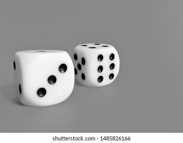 dice on a grey background
