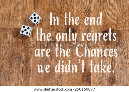Dice On Wood Background Inspirational Quote Stock Photo Edit Now Amazing Nsc Stock Quote