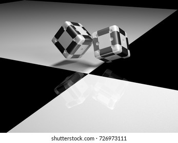 The dice petition for black-and-white surface