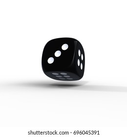 Dice. Poker dice. 3D rendereing