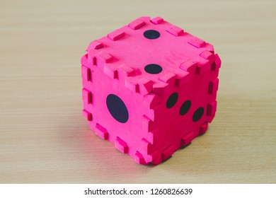 Dice toy on the table.