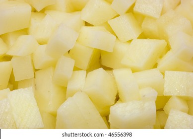 Diced potatoes - as an ingredient to a potato based dish