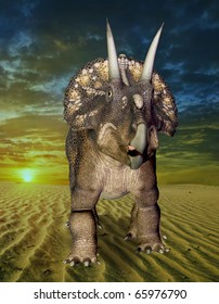 the diceratops alone