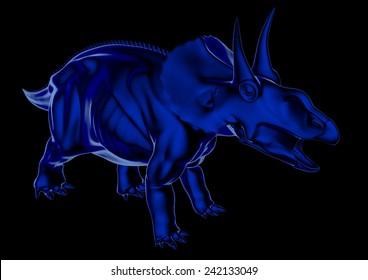 Diceratops in blue
