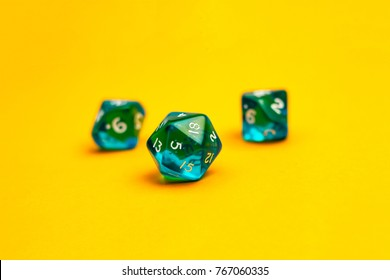Dices for board games dnd and rpg. Color background