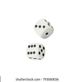 dices isolated on black background