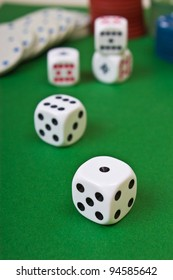 Dices on the table