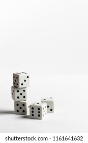 Dices on the white background