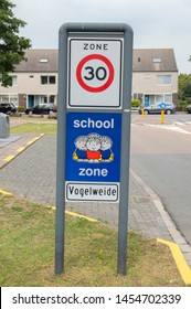 Dick Bruna Sign Be Aware Of School Zone At Diemen The Netherlands 2019