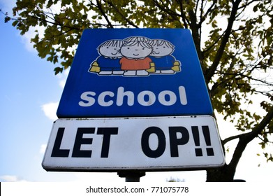 Dick Bruna Sign Be Aware Of Schoolchildren At Diemen The Netherlands 2017
