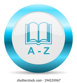 dictionary blue glossy icon