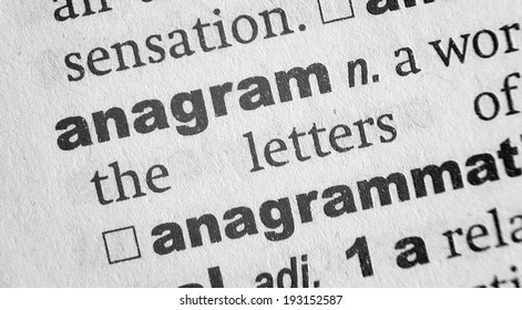 Dictionary definition of the word Anagram
