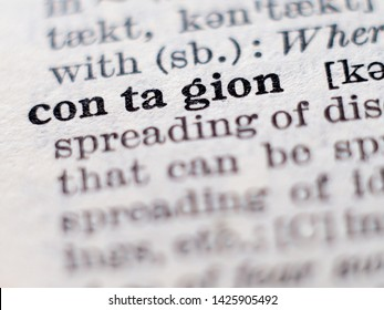 Dictionary Definition Word Contagion Selective Focus Stock Photo Edit Now 1425905492
