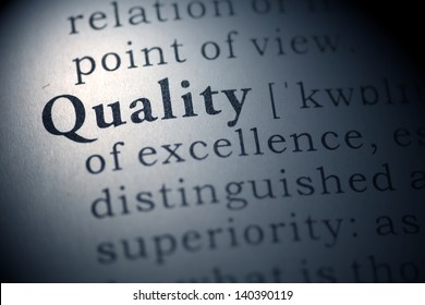 Dictionary definition of the word Quality.