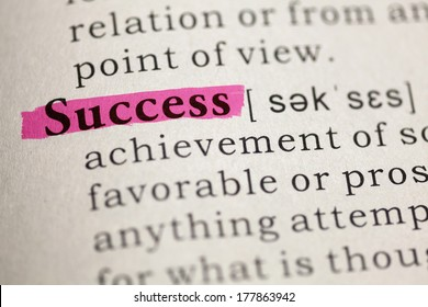 Dictionary definition of the word success.