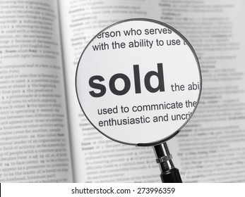 Dictionary highlighting Sold