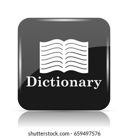 Dictionary icon. Internet button on white background.
