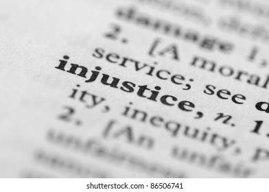 Dictionary Series - Injustice