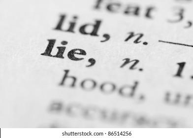 Dictionary Series - Lie