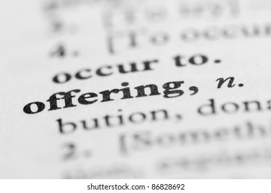 Dictionary Series - Offering