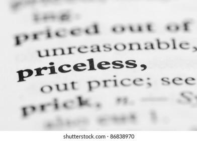 Dictionary Series - Priceless