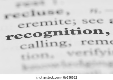 Dictionary Series - Recognition
