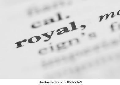 Dictionary Series - Royal