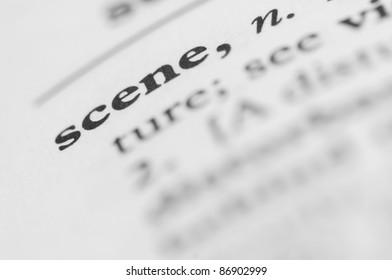 Dictionary Series - Scene
