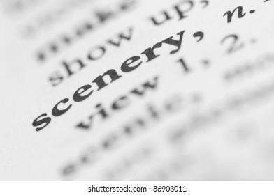 Dictionary Series - Scenery