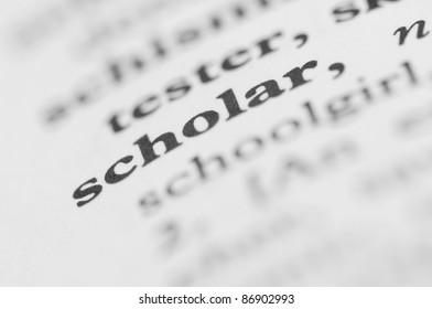 Dictionary Series - Scholar