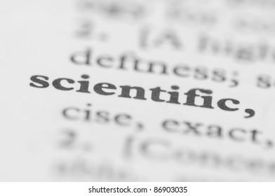 Dictionary Series - Scientific