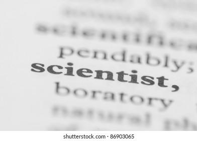 Dictionary Series - Scientist