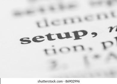 Dictionary Series - Setup