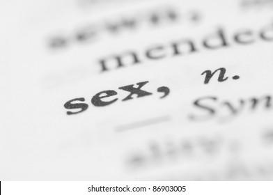 Dictionary Series - Sex