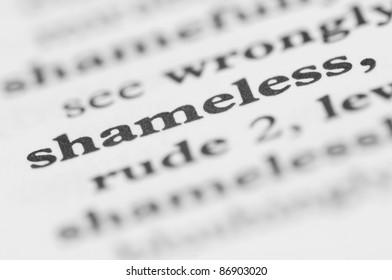 Dictionary Series - Shameless