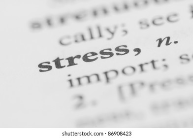 Dictionary Series - Stress