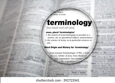 Dictionary showing the word 'Terminology'.