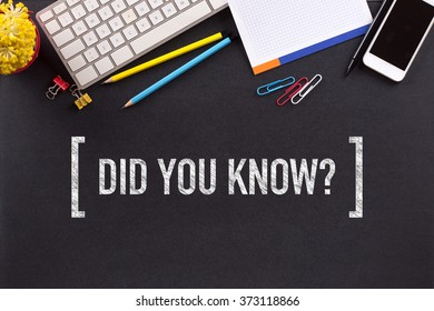 DID YOU KNOW? CONCEPT ON BLACKBOARD