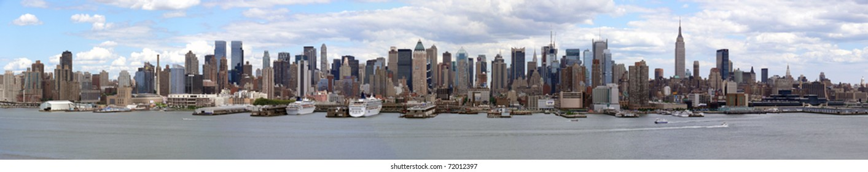 Die imposante Skyline von Manhattan